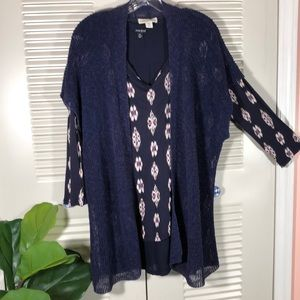 """Coldwater Creek"" loose knit Open Sweater  2X nwot"